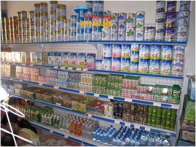 Giá kệ siêu thị bày hàng sữa