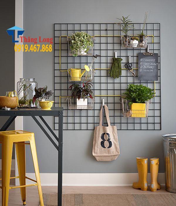 khung lưới treo hàng cho shop thời trang đẹp
